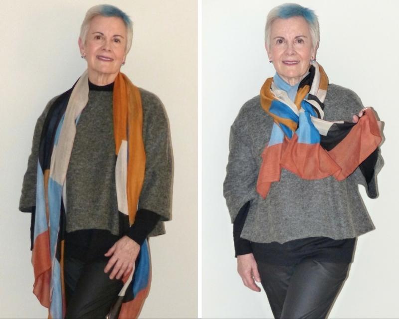 hijo unico familia numerosa canas kilos estilo blog moda mayores de 50 pañuelo colores
